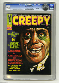 Creepy #26 Pacific Coast pedigree (Warren, 1969) CGC NM/MT 9.8 Off-white to white pages. Cover by Basil Gogos. Art by St...