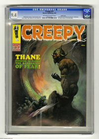 Creepy #27 Pacific Coast pedigree (Warren, 1969) CGC NM 9.4 Off-white to white pages. Frank Frazetta cover. Steve Ditko...