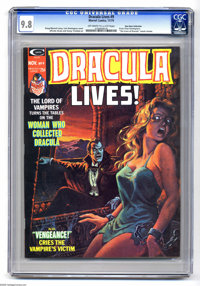 Dracula Lives! #9 (Marvel, 1974) CGC NM/MT 9.8 Off-white to white pages. Bondage cover by Luis Dominguez. Ernie Chan and...