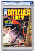 Magazines:Horror, Dracula Lives! #12 (Marvel, 1975) CGC NM/MT 9.8 White pages. Ken Bald cover. Tom Sutton art. Biography of Christopher Lee. C...