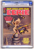 Magazines:Horror, Eerie #81 (Warren, 1977) CGC NM/MT 9.8 White pages. Frank Frazetta cover (all of the issue's stories are based on the cover ...