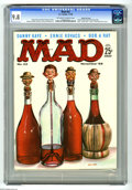 Magazines:Mad, Mad #42 Gaines File pedigree (EC, 1958) CGC NM/MT 9.8 Off-white towhite pages. Kelly Freas painted this issue's cover, and ...