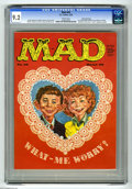Magazines:Mad, Mad #45 Gaines File pedigree (EC, 1959) CGC NM- 9.2 White pages.Valentine's Day cover by Kelly Freas, featuring Alfred E. N...