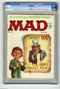 Magazines:Mad, Mad #48 (EC, 1959) CGC VF+ 8.5 White pages. Uncle Sam cover byKelly Freas. Perry Mason parody. Sid Caesar story. Art by Fre...