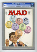 Magazines:Mad, Mad #122 Gaines File pedigree (EC, 1968) CGC NM+ 9.6 White pages.Norman Mingo and Mort Drucker cover. Drucker, Don Martin, ...