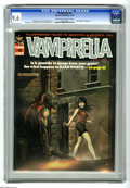 """Magazines:Horror, Vampirella #6 (Warren, 1970) CGC NM+ 9.6 Off-white to white pages. The mag has a fantastic """"good girl"""" horror cover by Ken K..."""