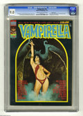 Magazines:Horror, Vampirella #30 Pacific Coast pedigree (Warren, 1974) CGC VF/NM 9.0 Cream to off-white pages. This issue features the first a...