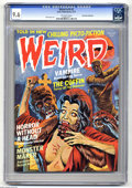 "Magazines:Horror, Weird V10#2 (Eerie Publications, 1977) CGC NM+ 9.6 Off-white pages. Dick Ayers art. CGC notes, ""Don Rosa Collection."" Overst..."