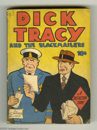 Dick Tracy and the Blackmailers - Fast-Action Book (Dell, 1939) Condition: VF. Dell's response to Big Little Books was i...
