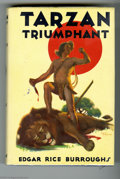 "Books:First Editions, Edgar Rice Burroughs - ""Tarzan Triumphant,"" First Edition(Burroughs, 1932). The frontispiece and four full-pageillustratio..."