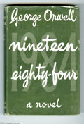 "Books:First Editions, George Orwell - ""Nineteen Eighty-Four,"" First Edition (Secker andWarburg, 1949). This distopian classic is presented in its..."