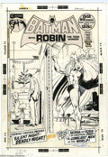 Original Comic Art:Covers, Neal Adams - Batman #239 Cover Original Art (DC, 1972). With thefirst snowfall, Gotham is a different city. Everyday locale...