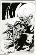 Original Comic Art:Sketches, Mark Bagley - Spider-Girl and Spider-Man Illustration Original Art (1999). The wildest (and cutest), web-slinger of all, May...