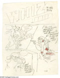 Original Comic Art:Miscellaneous, C. C. Beck - Whiz Comics #117 Cover Recreation Sketch Original Art(Fawcett, undated). This pencil sketch was apparently an ...