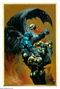 Original Comic Art:Covers, Simon Bisley - Grendel: Warchild #2 Cover Original Art (Dark Horse,1992). On a trip across the barren, deadly wasteland tha... (2items)