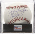 Autographs:Baseballs, Joe Morgan Single Signed Baseball, PSA Mint+ 9.5. A gorgeous sweetspot signature from the two-time NL MVP star of the Big...