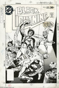 Original Comic Art:Covers, Rich Buckler and Vince Colletta - Black Lightning #6 Cover OriginalArt (DC, 1978). On the trail of Peter Gambi's kidnappers...