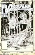 Original Comic Art:Covers, John Byrne - Dazzler #36 Cover Original Art (Marvel, 1985). JohnByrne was the first artist to draw the Dazzler (in the page...
