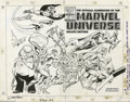 Original Comic Art:Covers, John Byrne and Joe Rubinstein: The Official Handbook of the MarvelUniverse Deluxe Edition #7 Wraparound Cover Original Art (M...