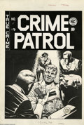 Original Comic Art:Covers, Johnny Craig - Crime Patrol #12 Cover Original Art (EC, 1949). Fewartists could capture a sweaty, fearful expression as con... (2items)