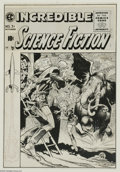 Original Comic Art:Covers, Jack Davis - Incredible Science Fiction #31 Cover Original Art (EC,1955). Jack Davis rarely drew covers for the EC science ...