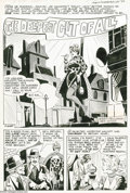 Original Comic Art:Splash Pages, Steve Ditko - Ghostly Haunts #46 Splash Page 1 Original Art(Charlton, 1975). A fetching streetwalker serves as the bait for...