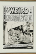 Original Comic Art:Covers, Al Feldstein - Weird Science #8 Cover Original Art (EC, 1951). Thiswild and woolly cover scene has all of the Al Feldstein ...