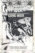 Original Comic Art:Covers, Steve Geiger and Bob McLeod - The Amazing Spider-Man #288 CoverOriginal Art (Marvel, 1987). The Kingpin, Daredevil, the Bla...