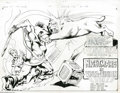 Original Comic Art:Splash Pages, Mike Grell and Bob Smith - The Warlord #45, Splash Pages 2 and 3Original Art (DC, 1981). A unique series in the DC Comics f...