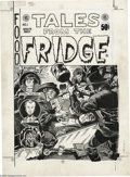 Original Comic Art:Covers, Russ Jones and Bhob Stewart - Tales From the Fridge #1 EC HomageCover Original Art (Kitchen Sink, 1973). From the halcyon y...