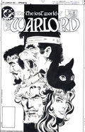 Original Comic Art:Covers, Dan Jurgens and Dick Giordano - The Warlord #76 Cover Original Art(DC, 1983). Along with the luscious art by Dan Jurgens an...