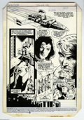 Original Comic Art:Panel Pages, Dan Jurgens and Dan Adkins - The Warlord #83, Page Original Art, Group of 9 (DC, 1984). In year is 2303, Travis Morgan and h... (9 items)
