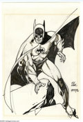 Original Comic Art:Sketches, Gil Kane - Batman Sketch Original Art (1977). Gotham City's guardian never looked so dynamic, than in this pencil and marker...