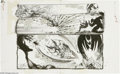 Original Comic Art:Splash Pages, Sam Kieth - Marvel Comics Presents #122 pages 4 and 5 Original Art(Marvel, 1993). Wolverine versus Venom -- the mere concep...