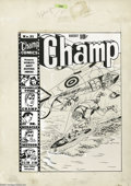 Original Comic Art:Covers, Jack Kirby and Joe Simon - Champ Comics #21 Cover Original Art (Harvey, 1942). This is a terrific WWII propaganda cover, wit...