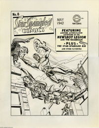 Jack Kirby and Joe Simon - Star-Spangled Comics #8 Cover Original Art (DC, 1942). The Newsboy Legion and the Guardian, i...