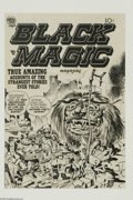 Original Comic Art:Covers, Jack Kirby and Joe Simon - Black Magic Unused Cover Original Art(Prize, circa 1952). The Simon and Kirby team's work for Pr...