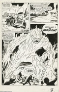 Original Comic Art:Panel Pages, Jack Kirby and Dick Ayers Strange Tales #76 Page 3 OriginalArt (Marvel, 1960)....