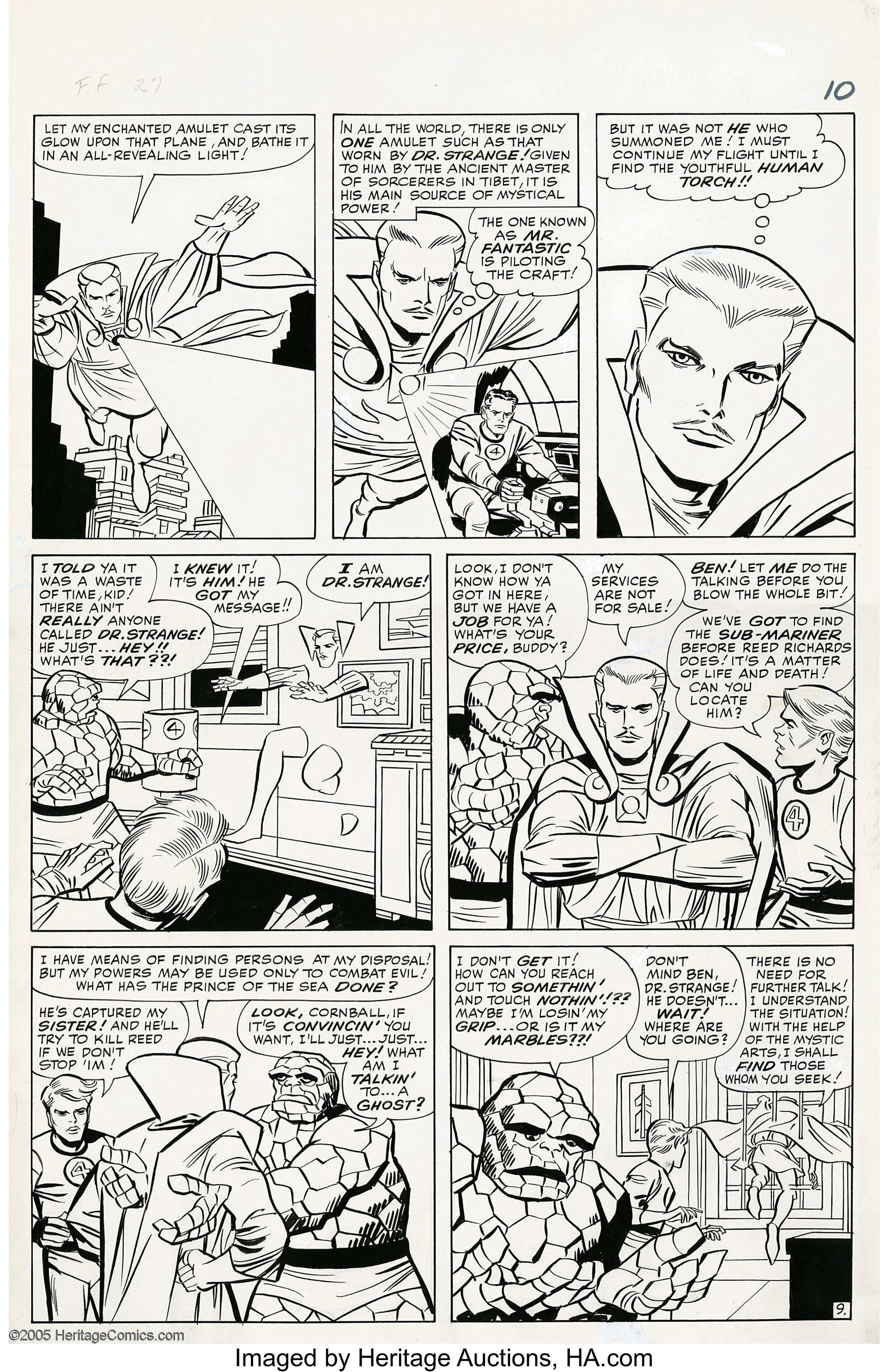 Jack Kirby and George Roussos (as George Bell) - Fantastic