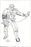 Original Comic Art:Sketches, Jack Kirby - The Recorder Character Design Sketch Original Art (undated). From the fertile imagination of Jack Kirby comes t...