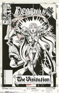 Original Comic Art:Covers, Kevin Kobasic and Greg Adams - Deathlok #28 Cover Original Art(Marvel, 1992). The Infinity Crusade dealt with the battle ag...