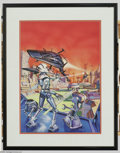 Original Comic Art:Covers, Jim Laurier - Creepy #121 Cover Original Art (Warren, 1980). JimLaurier's highly polished tribute to the space epic, is met...