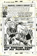 Original Comic Art:Covers, Larry Lieber - Rawhide Kid #105 Cover Original Art (Marvel, 1972).Pa Morgan lived an honest life, and died broke! That's a ...