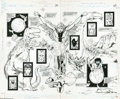 Original Comic Art:Splash Pages, Todd McFarlane and Tony DeZuniga - Infinity, Inc. #14, Splash Pages20 and 21 Original Art (DC, 1985). While providing secur...
