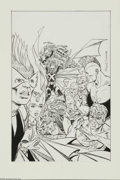 Original Comic Art:Splash Pages, Todd McFarlane and Tony DeZuniga - Infinity, Inc. #30, Splash Page28 Original Art (DC, 1986). Here's a spectacular pin-up b...