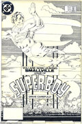 Original Comic Art:Covers, Frank Miller - The New Adventures of Superboy #51 Cover OriginalArt (DC, 1984). You are now leaving Smallville, the home of...
