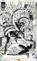 Original Comic Art:Covers, Jerome Moore - Star Trek: The Next Generation #4 Cover Original Art (DC, 1990). An away team lead by Lt. Riker is trapped ab...
