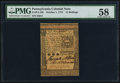 Colonial Notes:Pennsylvania, Pennsylvania October 1, 1773 15s PMG Choice About Unc 58.. ...