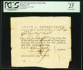 Miscellaneous, Connecticut Pay Table Office £2.16s December 25, 1781 PCGS Very Fine 25.. ...