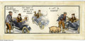 Original Comic Art:Comic Strip Art, Norman Pett - Hand Colored Jane Daily Comic Strip Original Art(undated). Jane was an English strip that ran from 1932-5...